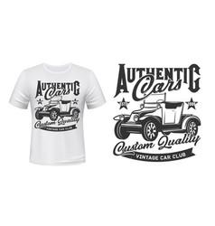 Retro cars vintage vehicles club t-shirt print vector