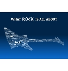 Rock Guitar Words Design vector image