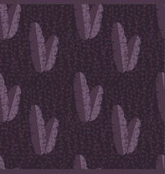 Seamless pattern with jungle palm leaves vector