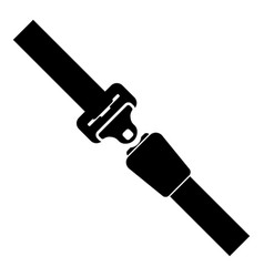 seat belt icon black color flat style simple image vector image