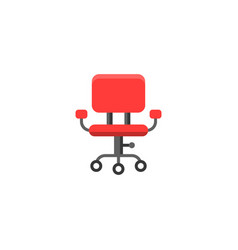 simple red office chair vector image