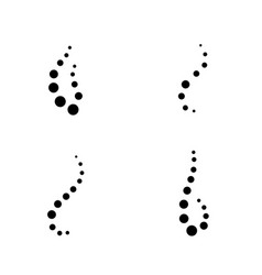 smell aroma circle set vector image