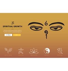 Spiritual growth concept vector