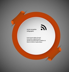 Template infographic with orange ring vector