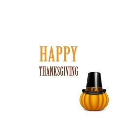 Thanksgiving Day card with pumpkin vector image