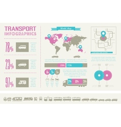 Transportation Infographic Template vector image