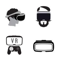 virtual reailty gaming vector image