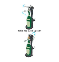 Wine opener icon isometric style vector