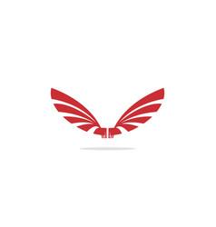wing fly bird logo vector image
