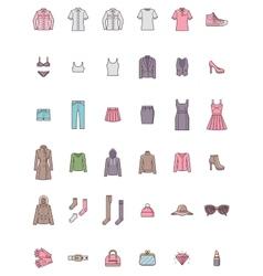 Women clothes set vector image vector image