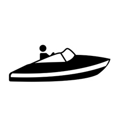 fast boat silhouette icon vector image