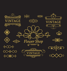 flower shop emblem vector image