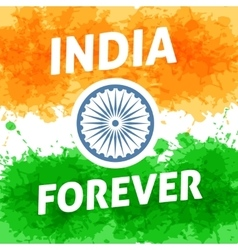 India forever independence day 15th of august vector image
