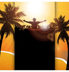 Summer festival panel background vector image vector image