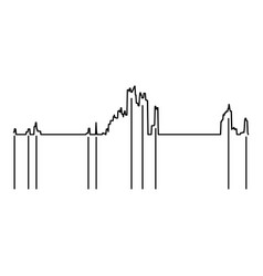 audio equalizer icon simple black style vector image
