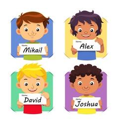 Boys Name 1 vector image