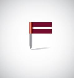 Latvia flag pin vector image vector image