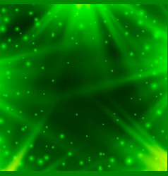 neon background of green with rays of light vector image vector image
