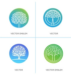 Set of business and abstract emblems vector