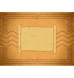 Vintage frame with scroll vector image vector image
