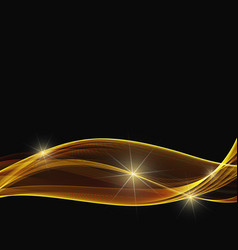 abstract shiny color gold wave design element with vector image