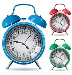 alarm clocks vector image