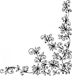 baroque vignette vector image