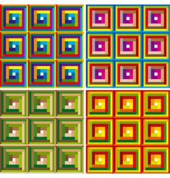 colorful squares seamless pattern set vector image vector image