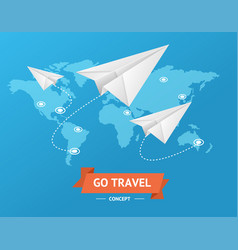 go travel concept vector image