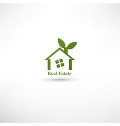 Green real estate concept design vector image