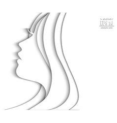 Profile face of beautiful young woman vector image
