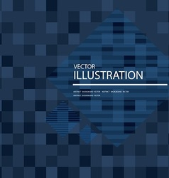 dark blue mosaic background vector image