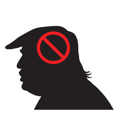 donald trump silhouette with anti sign vector image vector image