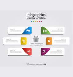 infographic report template with place for data vector image