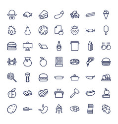 49 food icons vector