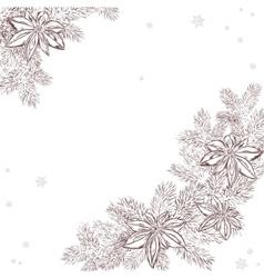 A christmas hand drawn pine vector