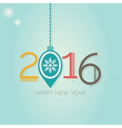 Abstract Happy New Year 2016 hanging ornament vector