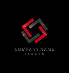 abstract logo 2 black background vector image