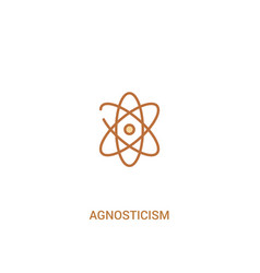 Agnosticism concept 2 colored icon simple line vector