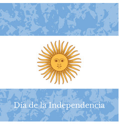 argentina independence day 9 july flag of vector image