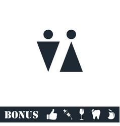 bathroom icon flat vector image