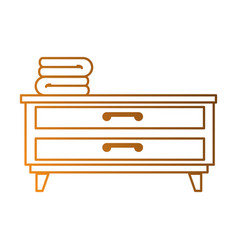bedroom drawer with clothes vector image
