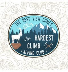best view comes after hardest climb vector image