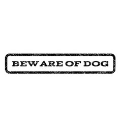Beware of dog watermark stamp vector