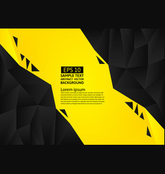 black and yellow color polygon abstract vector image