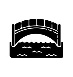 bridge black glyph icon vector image