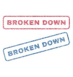 Broken down textile stamps vector