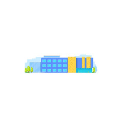business office center real estate building icon vector image