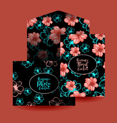 cards design and envelope template or mockup vector image