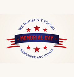 celebration memorial day vector image